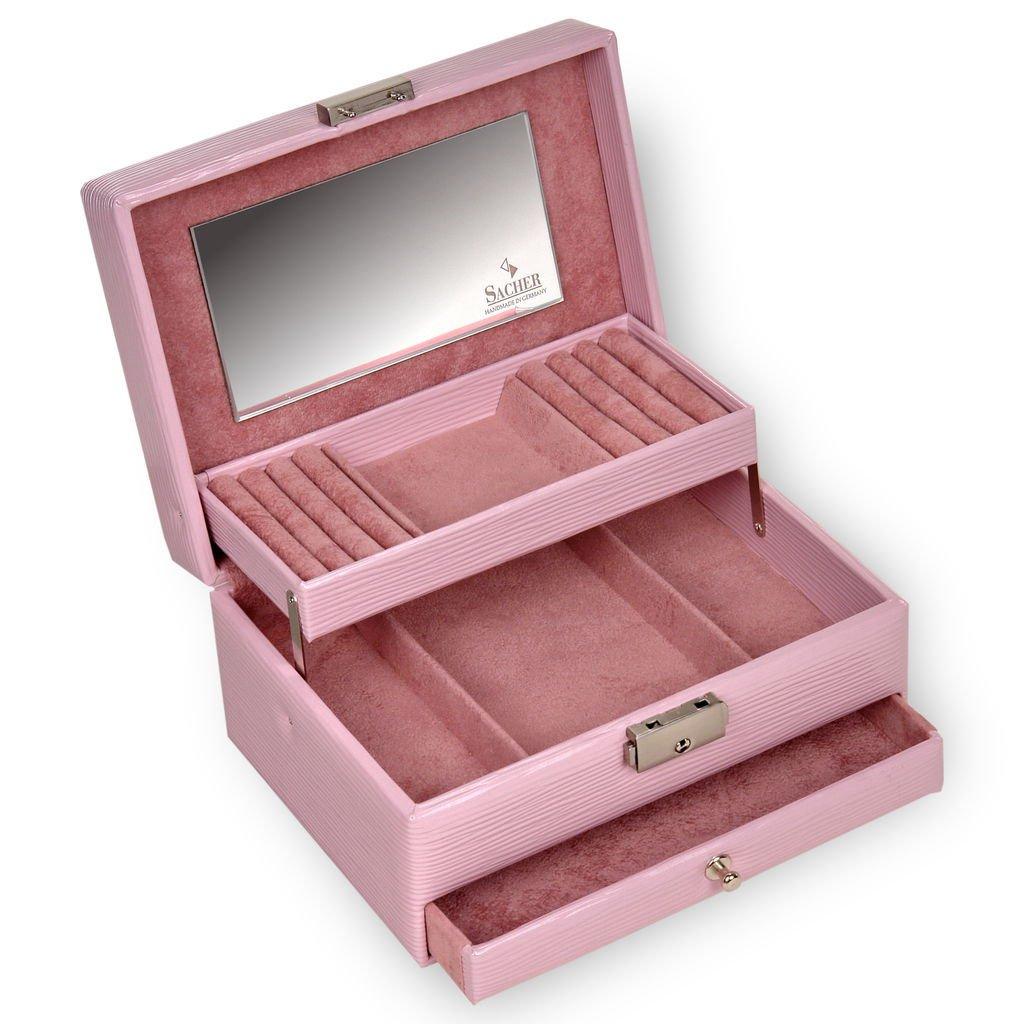 SACHER Schmuckkästchen Carola Verona lac pink pink pink   Handmade in Germany Schmuckaufbewahrung 80c72a