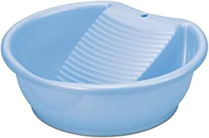 Japanese Laundry Wash Basin Tub with Washboard Made in Japan, Blue