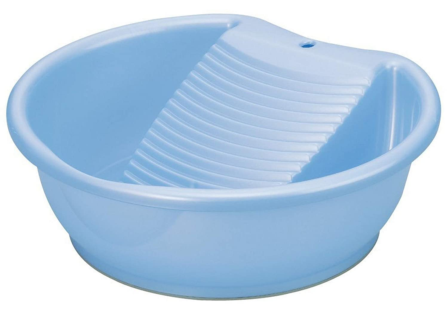 JapanBargain, Japanese Laundry Tub Basin with Washboard Laundry Board for Hand Wash Clothes Made in Japan, Plastic, Blue