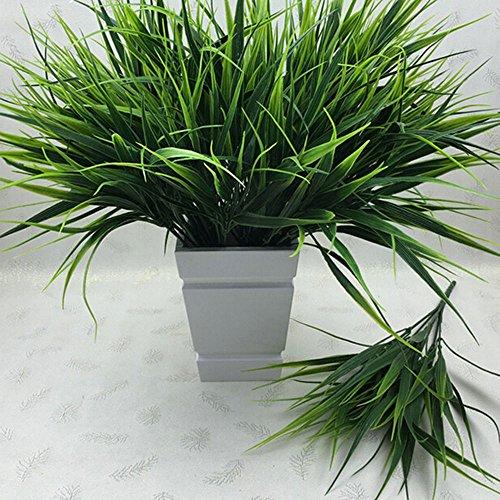 Artificial Plastic Green Grass Plant Flowers Office Home Garden Decoration Decor