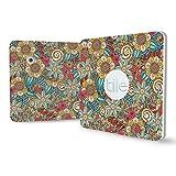 Cover for Tile Slim, Tile Slim Skins, Tile Slim Bluetooth Tracker Sticker, Tile Tracker Accessories, Non-stick Residue Design, Flower (4pack), By Logity.