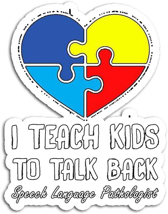 DKISEE Sticker Speech Pathology Therapy Talk Autism Awareness Month Stickers Graffiti Bumper Stickers for Teens, Girls, Women 4x3 inches
