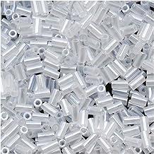 Toho Bugle Tube Beads Size #1 / 2x3mm Ceylon Snowflake 8 Grams by Toho