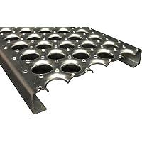 24 Length x 5 Width x 1-1//2 Depth 61G13515-24 Perf-O-Grip Channel 13 Gauge Pregalvanized Steel Plank Safety Grating