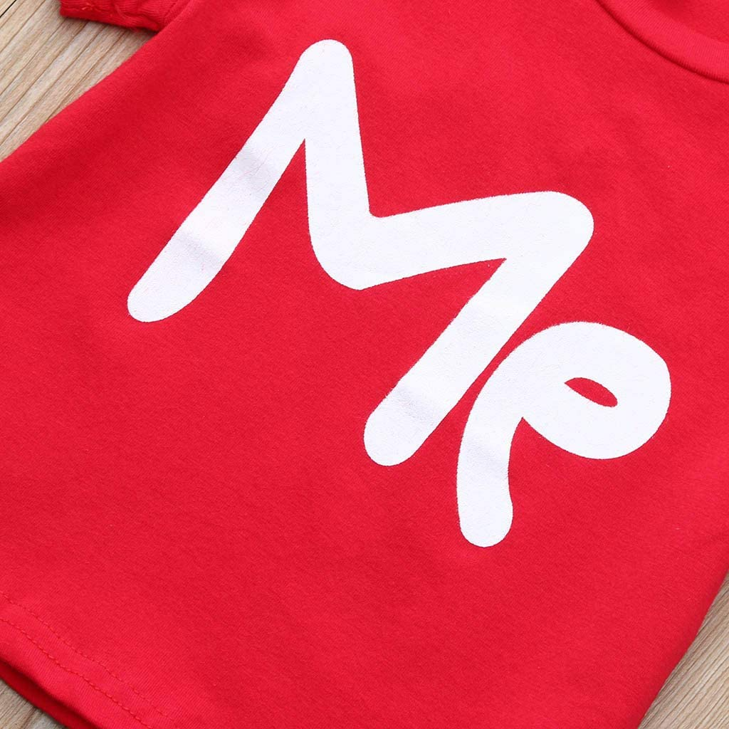 Haluoo Family Matching Valentine T-Shirt Print Love ME Couple Pullover Blouse Tops