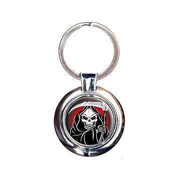 Amazon.com: Grim Reaper de muerte Llavero Llavero: Office ...