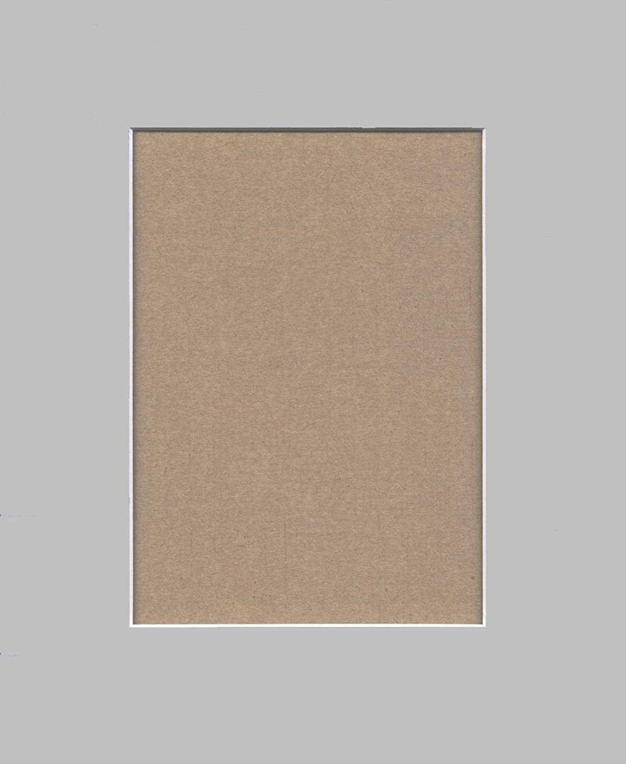 Pack of 5 11x14 Ocean Grey Picture Mats with White Core for 8x10 Pictures Bux1 Picture Matting
