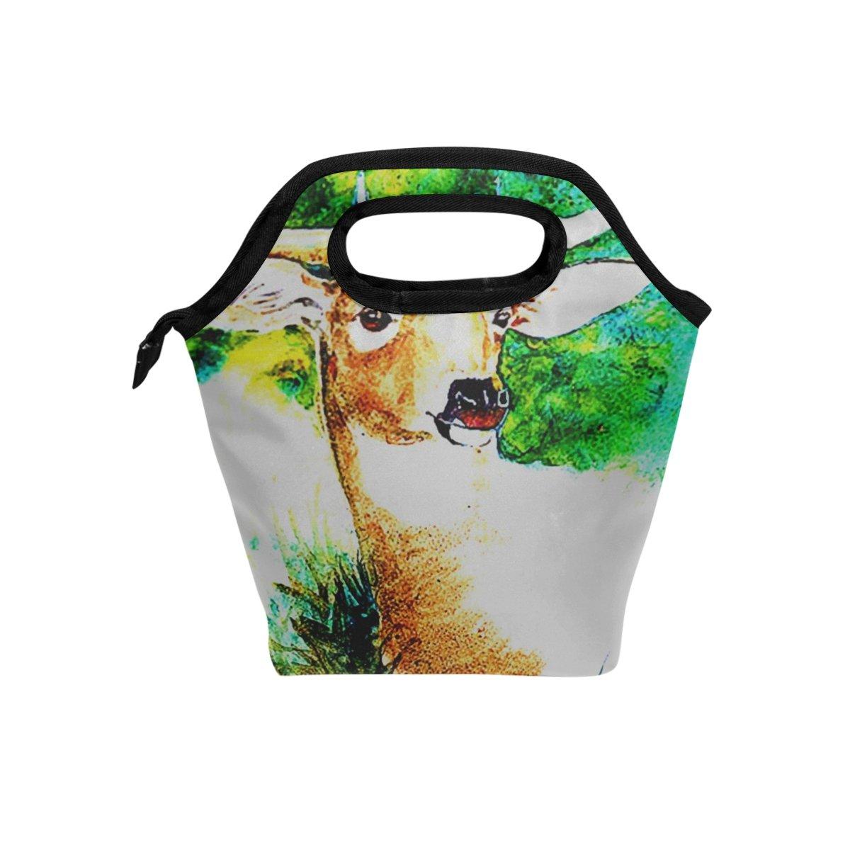 JSTEL - Bolsa de almuerzo con diseño de poros poros poros verdes, bolsa para el almuerzo, contenedor de alimentos, para viajes, picnic, escuela, oficina d25746