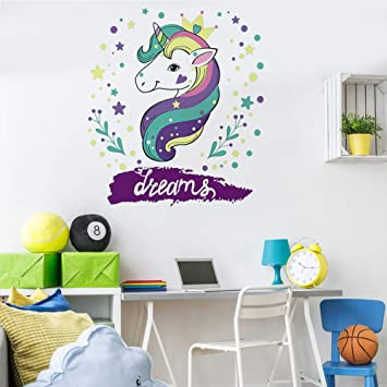Unicorn Wall Decals Girls Bedroom Wall Stickers Nursery Room Wall Decor  Unicorn Gifts for Girls