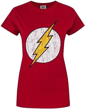 DC Comics The Flash Mujeres Camiseta: Amazon.es: Ropa y accesorios