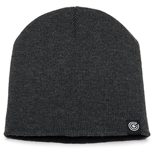 - Original Beanie Cap Soft Knit Beanie Hat Warm and Durable for Winter Charcoal Grey One Size