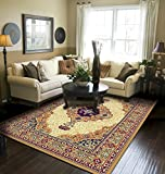Traditional Area Rug Beige Large Rugs For Living Room 8x10 Clearance Under 100