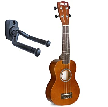Stagg Ukelele Soprano Keepdrum Soporte de pared, naturaleza ...