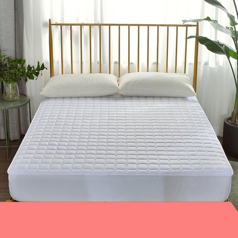 HYXL Anti-slip Bed mattress pad protector Mattress topper,Mattress pad with fitted skirt Bed mattress single bed pad protection pad thin mattress tatami-B 180x200cm(71x79inch)