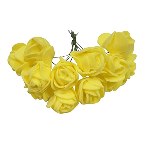 Artificial flowers for craft buy artificial flowers for craft asian hobby crafts artificial foam flowers for decoration purposes yellow 2cm 12 pieces mightylinksfo