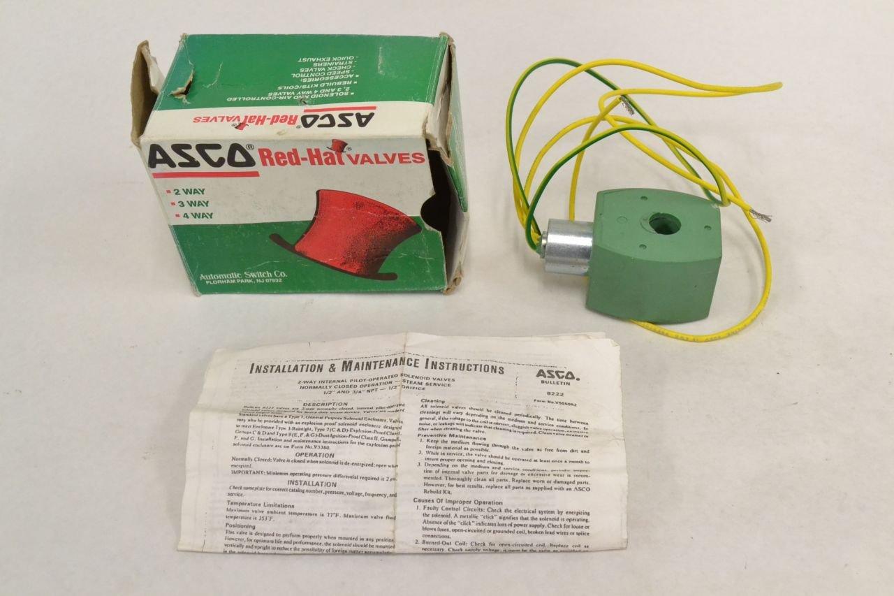 Asco Mp C 082 238810 032 D 110 230v Ac Solenoid Valve Coil B241996 4 Way Switch Internal Industrial Scientific