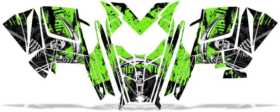 Reaper V2 Green Wholesale Decals Snowmobile Graphics kit Sticker Decal Compatible with Polaris RUSH RMK 2011-2016