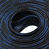 1M Black Blue 4/6/8/10/12/15/20/25mm Insulation Expandable PET Nylon Braided Cable Sleeve High Density Wire Cable Protection
