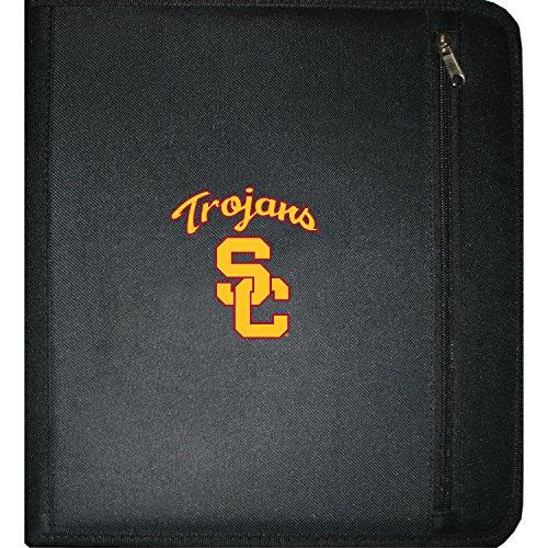 "C.R. Gibson 3-Ring Zipper Binder, Pocket Inside, Water Resistant, Licensed by NCAA, Measures 12.5"" x 11.5"" - USC Trojans"
