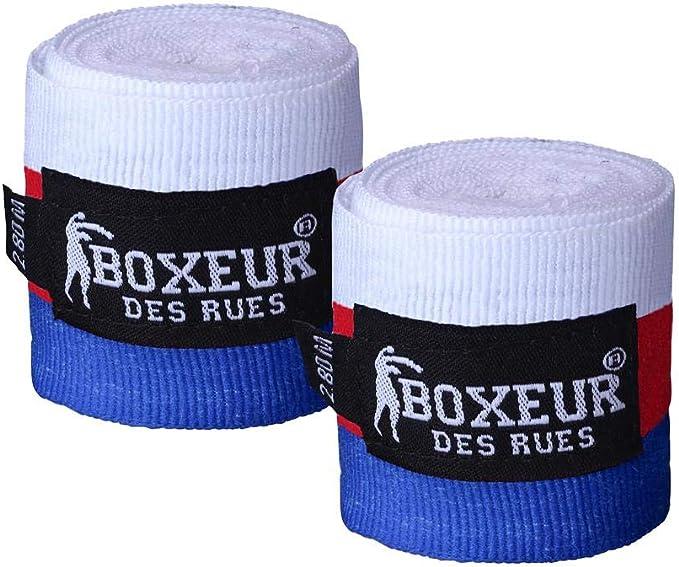 BOXEUR DES RUES - French-flag Boxing Bandages, Unisex: Amazon.es: Deportes y aire libre