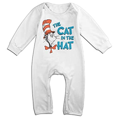 560af9b05 Dr Seuss The Cat In The Hat Baby Onesie Romper Jumpsuit Newborn Baby Clothes