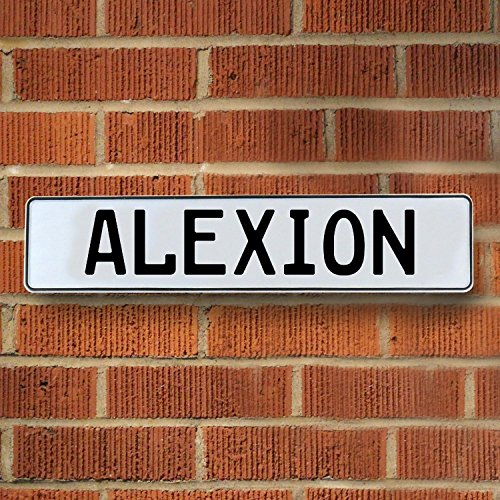 Vintage Parts Usa Vpayb8d9 Alexion White Stamped Aluminum Street Sign Mancave Wall Art