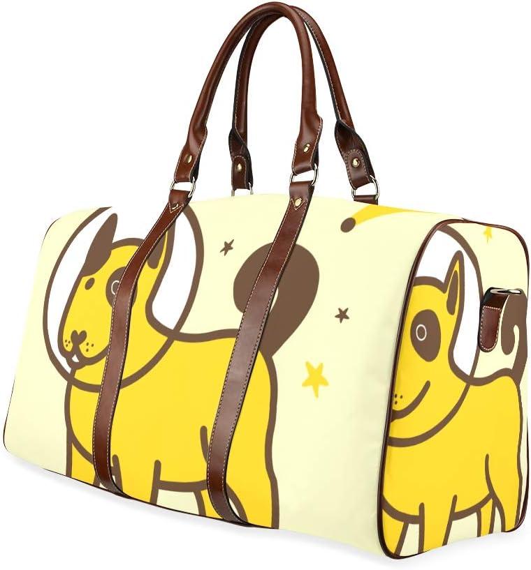 Best Weekend Bag Space Astronaut Puppy Dog Waterproof Microfiber Leather Carryon Bag Handbags For Women Cute Tote Bag Handbag Zippers Unique Handbags For Women