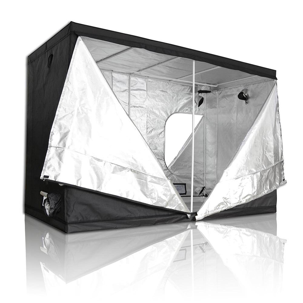 LAGarden 118x60x78'' 600D 100% Reflective Mylar Hydroponics Indoor Grow Tent Non Toxic Planting Room 9.8x5x6.5ft