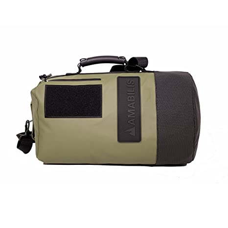0842f4e9b2b7 Amabilis Dave Jr 2.0 Water Resistant, Heavy Duty Tactical Duffel Bag, 18 x  10 Inches - 23 Liters/1413 cu.in.
