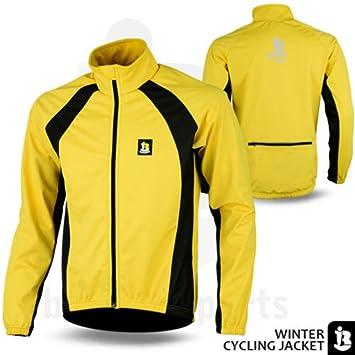 Ciclismo chaqueta polar cortavientos Windstopper térmicas manga larga chaquetas rojo/azul/amarillo, hombre, color Amarillo - amarillo, tamaño mediano: ...