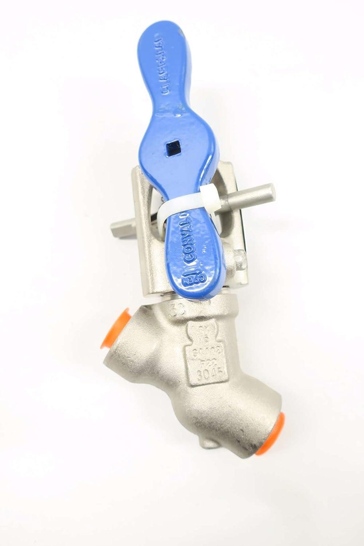 CONVAL 13G2J-F223C-99-2 1//2 in Steel Socket Weld Globe Valve D563435