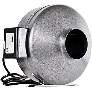 iPower 10 Inch 862 CFM Duct Inline Fan Vent Blower for HVAC Exhaust and Intake, Grounded Power Cord