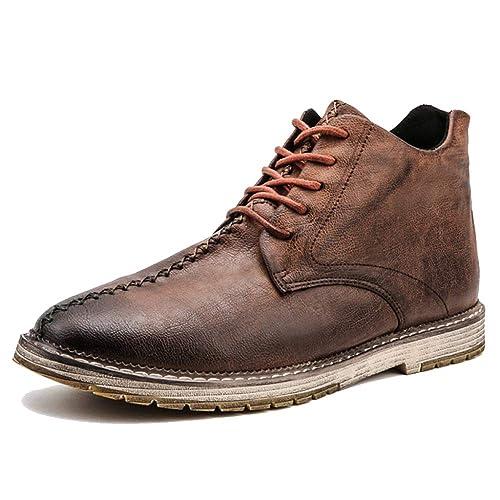 Zapatos Negros De Vestir Altos con Cordones para Hombres acd21a4cf2772