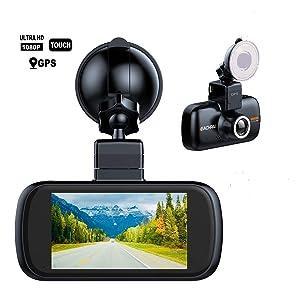 "Car Dash Camera,EACHPAI K2 3"" IPS Touch Screen Dash Cam Built-in GPS Dashboard Camera Full HD 1080P Digital Driving Video Recorder 150°Wide Angle Super Capacitor WDR G-Sensor Loop Record"