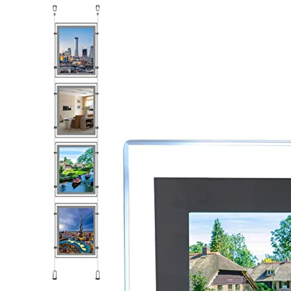 Caja de luces LED A4 de doble cara para colgar en la ventana ...