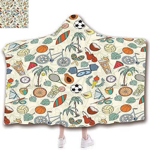 Fashion Blanket Ancient China Decorations Blanket Wearable Hooded Blanket,Unisex Swaddle Blankets for Babies Newborn by,Cartoon Style Icons Bike Balls Olympic Flame Weight,Adult Style Children Style