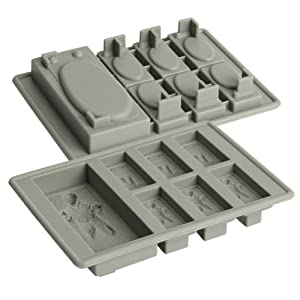 Food Grade Han Solo Silicone Candy Making Mold and Ice Cube Tray
