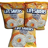 LifeSavers Orange Mints Hard Candies, Individually Wrapped Mints 6.25oz (Pack of 3)