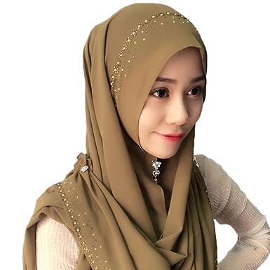 Feicuan Mujer Saudi Arabia Dubai Pañuelo musulmán Islamic Hijab Turban: Amazon.es: Ropa y accesorios