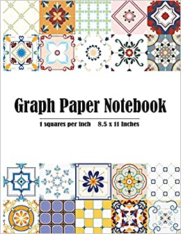amazon com graph paper notebook 1 inch squares blank graphing
