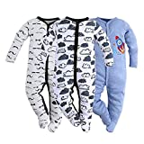 Best Baby Einstein Baby Monitors - Hisharry Baby Footed Pajamas Sleeper for Boys-3 Packs Review