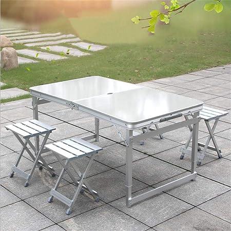 Tavolo In Alluminio Da Campeggio.Hxyl Tavoli E Sedie Pieghevoli Tavolo Pieghevole Da Esterno In