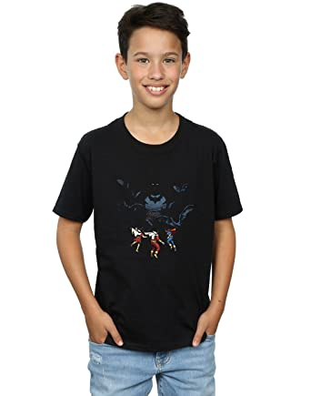 3b7f5af4ebbbf Amazon.com  DC Comics Boys Batman Shadow Bats T-Shirt  Clothing