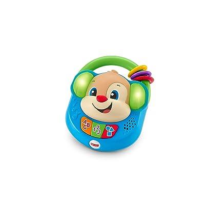 Fisher-Price - Perrito musical de paseo de Ríe y Aprende, radio de juguete para bebé +6 meses (Mattel FPV08): Juguetes y juegos