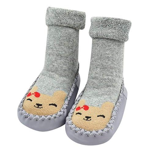 Malloom Calcetines de bebé niño Calcetines de Dibujos Animados Calcetines de Piso Antideslizante de Fondo Suave: Amazon.es: Zapatos y complementos