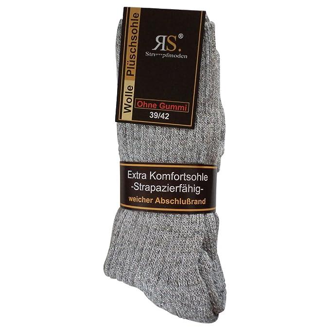6 pares de calcetines calcetines Noruego sin goma diabéticos lana sin goma elástica. Suela de felpa: Amazon.es: Ropa y accesorios