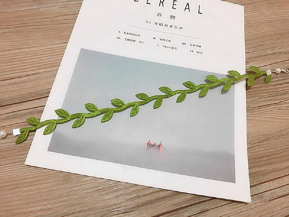 JUZIPI Adjustable Green Leaves Choker Necklace for Women 17