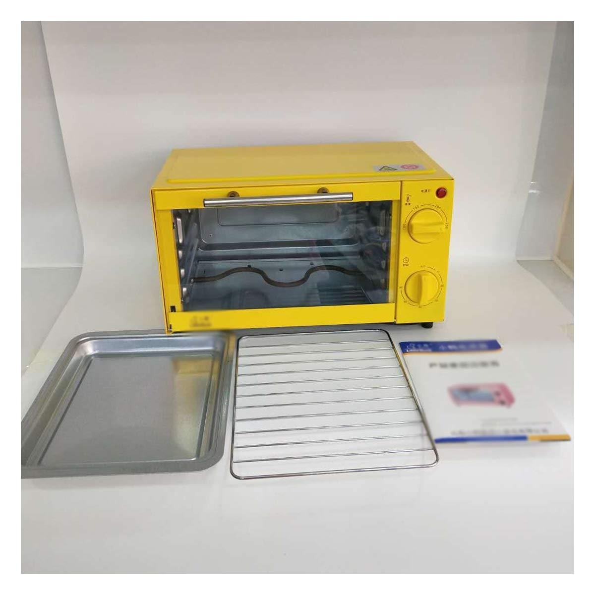 SGKJJ ミニオーブン - 電気オーブンホーム多機能オーブンベーキング電気オーブンミニ電気オーブン - オーブントースター (色 : 黄)  黄 B07QM8FDLR