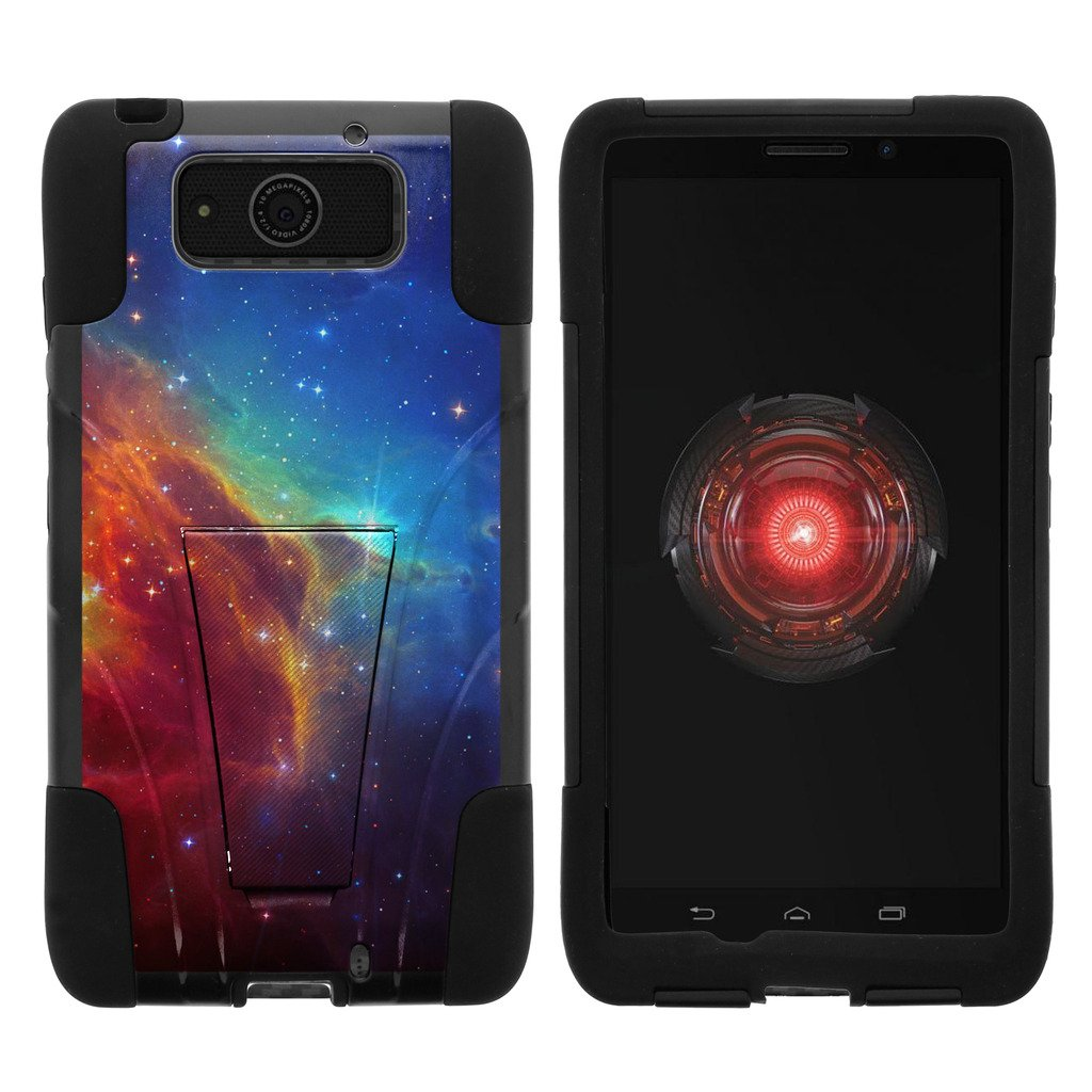 TurtleArmor | Motorola Droid Maxx Case | Droid Ultra Case | XT1080 [Gel Max] Hybrid Dual Layer Hard Shell Kickstand Silicone Case - Colorful Nebula Galaxy