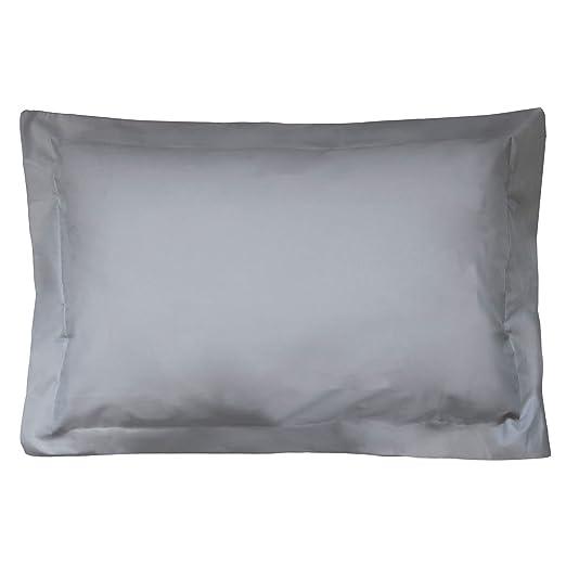 Funda de almohada algodón, 80 x 50 cm, color aluminio ...